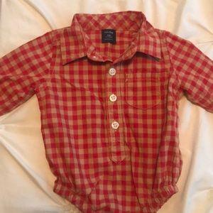 Baby Gap plaid dress shirt with snap closure